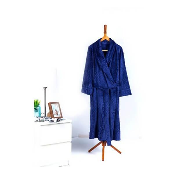 Solid Burnout Velvet Plush Robe
